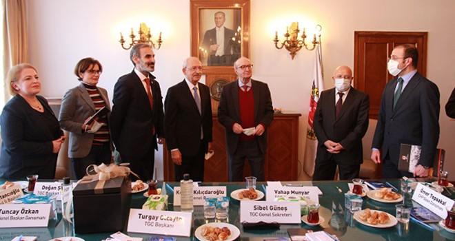CHP Genel Başkanı Kemal Kılıçdaroğlu TGC'yi ziyaret etti