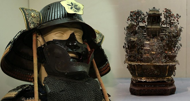 Japon İmparatoru'nun Sultan 2. Abdülhamid'e hediyesi Japon Zırh Takımı sergileniyor