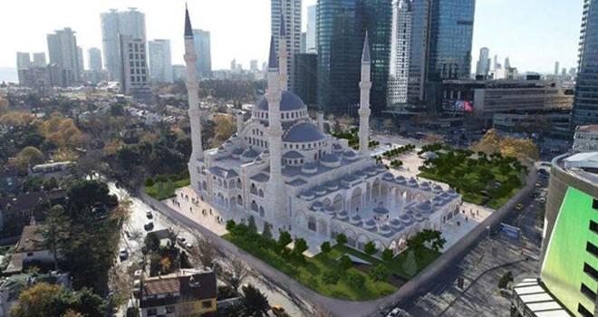 İşte Levent'te yapılan Barbaros Hayrettin Paşa Camii'de son görüntüler...