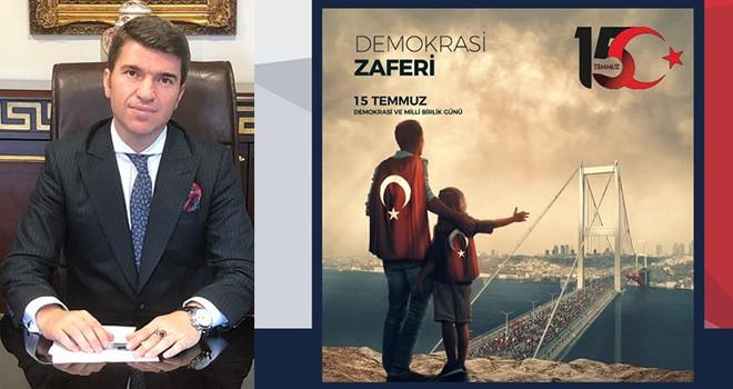 Beşiktaş Kaymakamı Önder Bakan'dan 15 Temmuz Demokrasi ve Milli Birlik Günü nedeniyle halka davet var