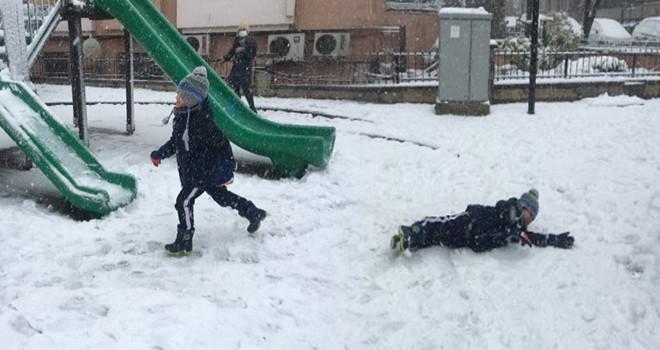 Çocukların kar coşkusu