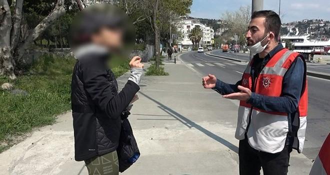 Sahilde yürüyüş yapan kadının ceza kesen polise söyledikleri şok etti