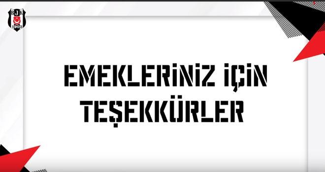 Beşiktaş'tan ayrılanlara videolu veda