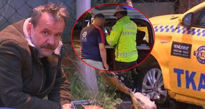 Alkollü sürücü yoldan çıkarak çitlere çarptı