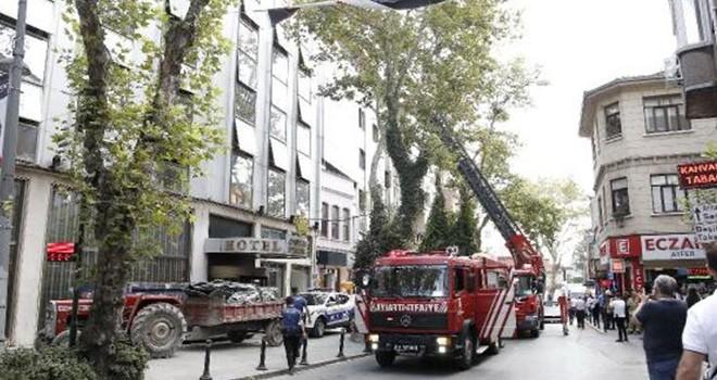 Ortaköy'de otel yangını