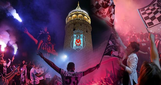 Yer siyah, gök beyaz şampiyon Beşiktaş! Yurdun dört bir yanından şampiyonluk kutlamaları