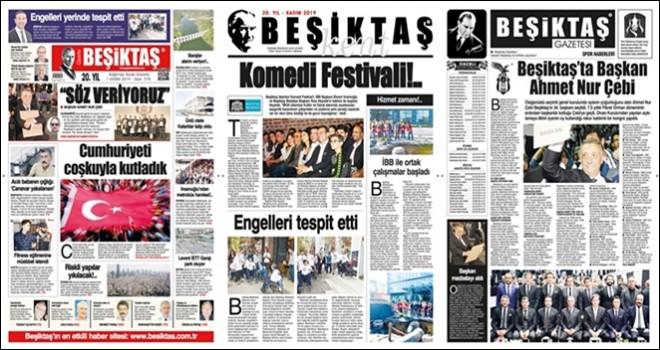 Gazete Beşiktaş Kasım sayısı çıktı