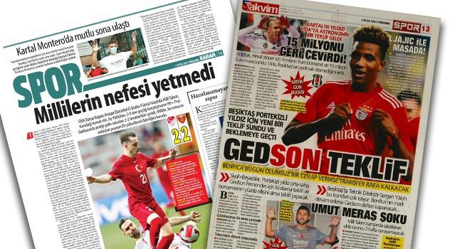 Beşiktaş manşetleri (2 Eylül)