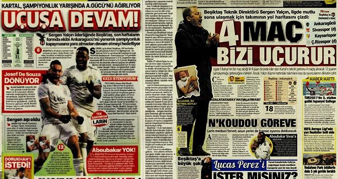 Günün Beşiktaş manşetleri: Uçuşa devam!