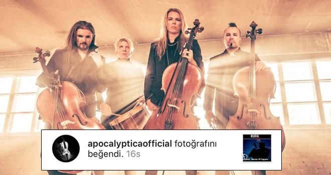 Dünya çapındaki metal müzik grubundan Beşiktaş Medya Grup'a beğeni