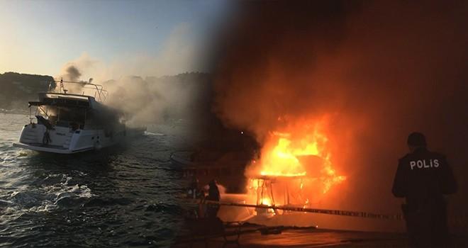 Bebek'te tekne yangını! Bir günde iki kez yandı