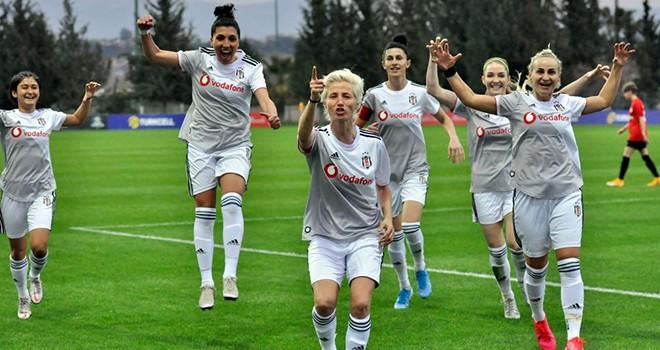 Beşiktaş Vodafone Takımı'ndan gol yağmuru! 8-1'lik galibiyet