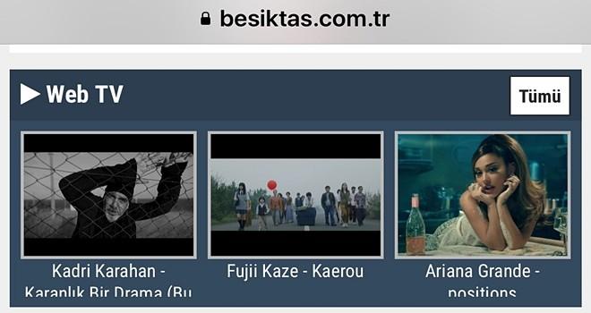 Beşiktaş Web Tv yayında