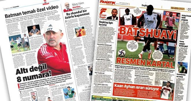 Manşetlerle Beşiktaş (19 Ağustos)