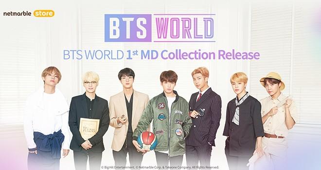 Yeni BTS WORLD ürünleri Netmarble Online Store'da