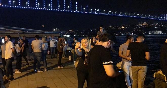 Ortaköy'de Koronavirüs kuralları hiçe sayıldı