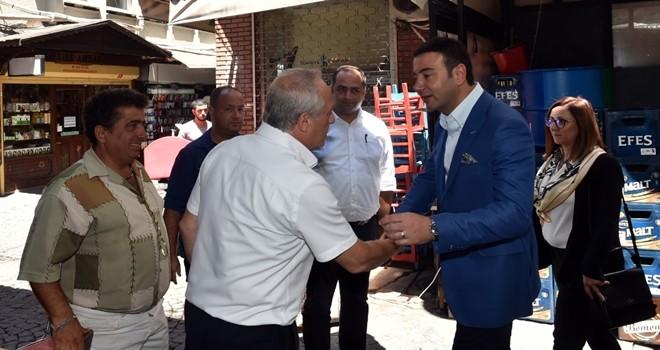 Başkan Rıza Akpolat mahalle ziyaretlerine Sinanpaşa'dan başladı