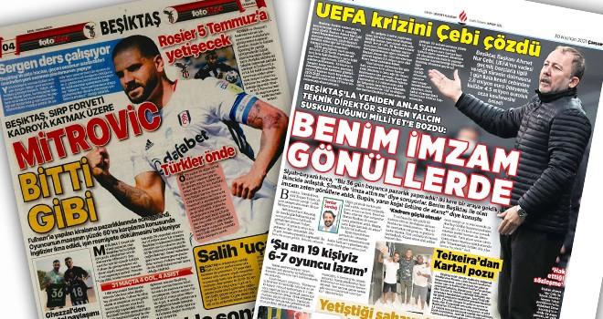 Günün Beşiktaş manşetleri (30 Haziran)