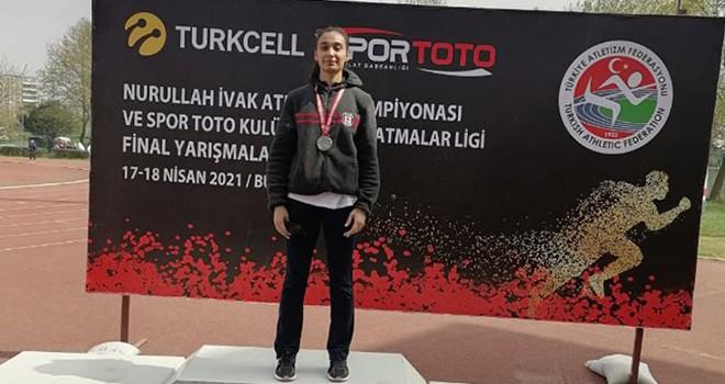 Beşiktaş Atletizm Takımı sporcusu Türkiye ikincisi oldu