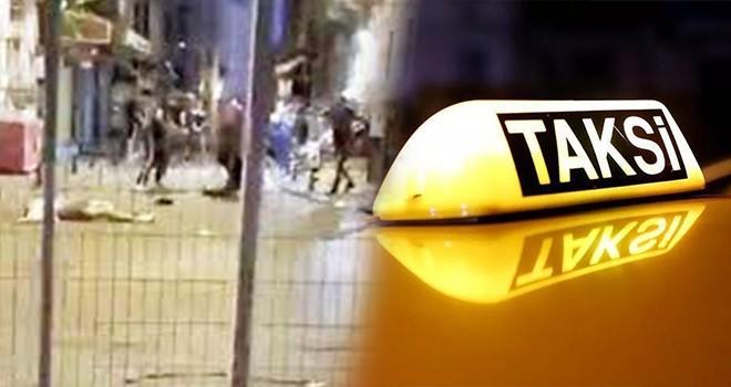 Beşiktaş'a gitmek için taksiye binen yolcular darp edildi