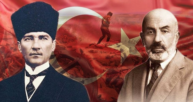 İstiklal Marşı kabulü, Atatürk ve Mehmet Akif Ersoy...