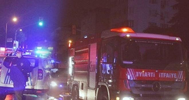 Akmerkez'de gece yangın paniği