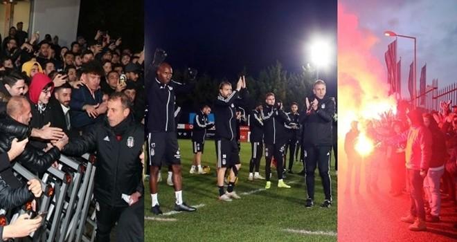 Taraftardan Beşiktaş'a destek