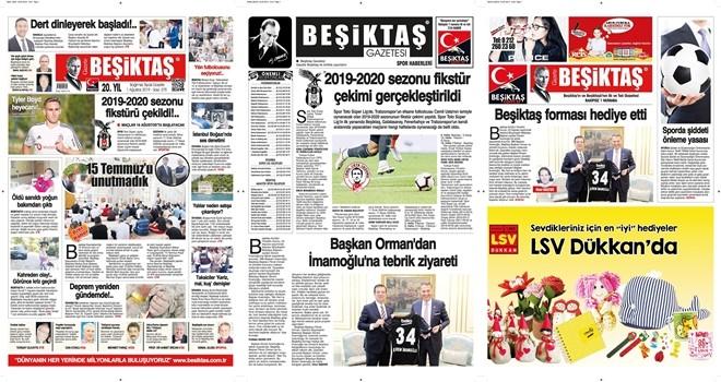 Gazete Beşiktaş çıktı ve tükendi internet üzerinden okuyabilirsiniz.