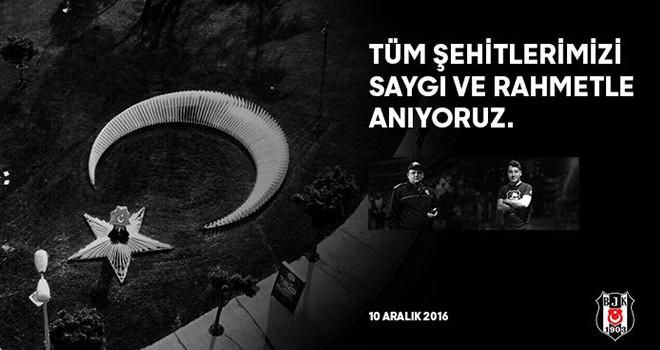 Beşiktaş 10 Aralık şehitlerini saygıyla anıyor