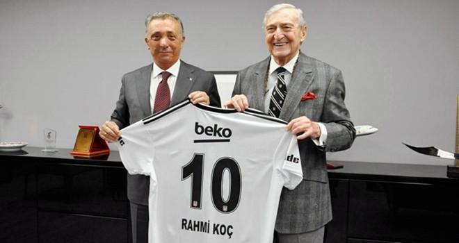 Rahmi Koç'tan Başkan  Ahmet Nur Çebi'ye ziyaret