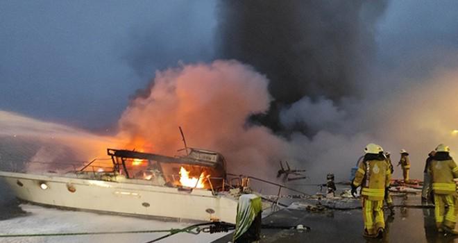 Yat yangınının sebebi trafo patlaması çıktı