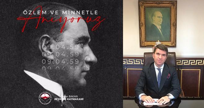 Kaymakam Önder Bakan'dan 10 Kasım mesajı