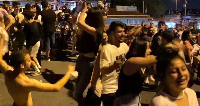 Normalleşmeyi abartan gençler salgını körükledi! Maskelerini çıkartıp dans etti
