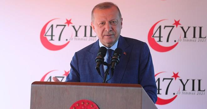 Cumhurbaşkanı Erdoğan: Kıbrıs davası büyük bir davadır