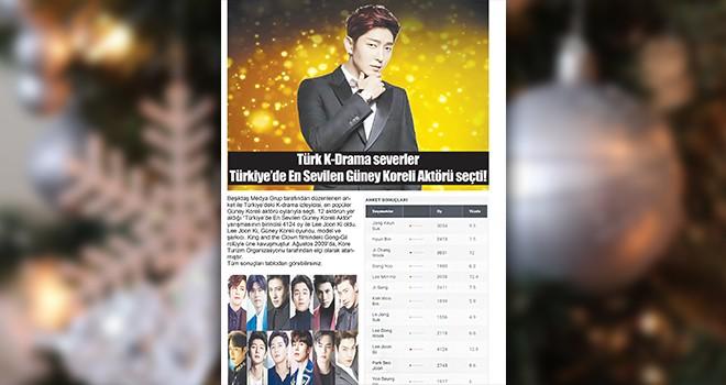 Besiktas Media Group chose the most popular South Korean actor in Turkey in 2020