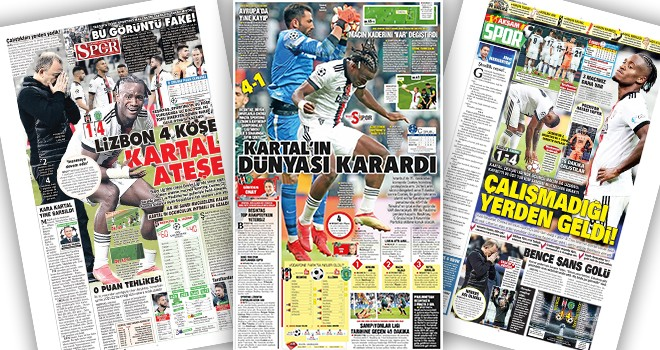 Beşiktaş-Sporting maçı gazete manşetlerinde! (20 Ekim)