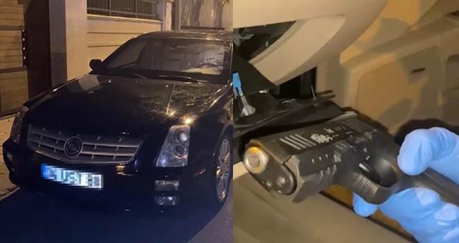 Beşiktaş Emniyeti uygulama sırasında zırhlı araçtaki gizli bölmeyi belirledi