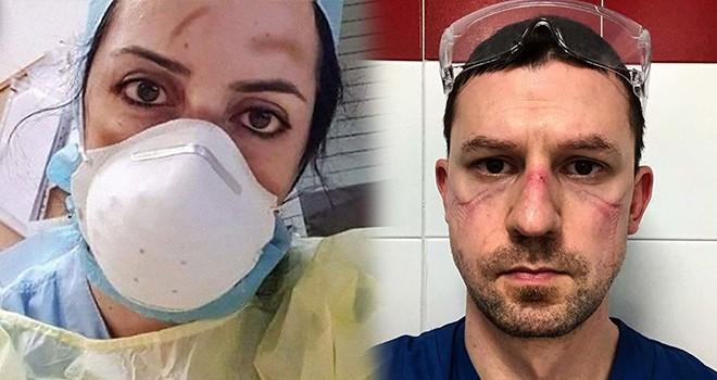 Koronavirüsle mücadele eden kahraman sağlık çalışanları