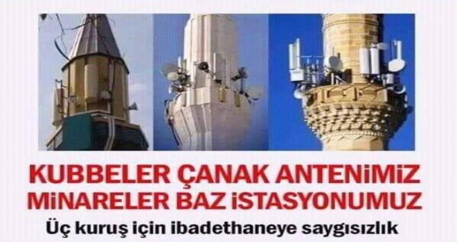 Cami minareleri çanak anten ve baz istasyonu doldu!..