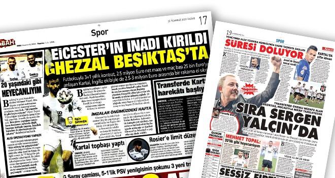 Günün Beşiktaş manşetleri (25 Temmuz)