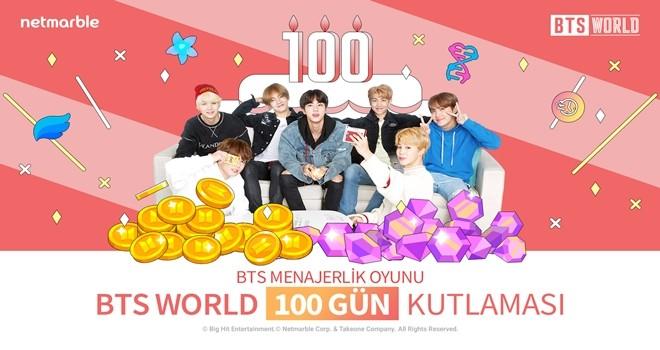 """BTS WORLD'de """"100 Gün Kutlaması"""""""