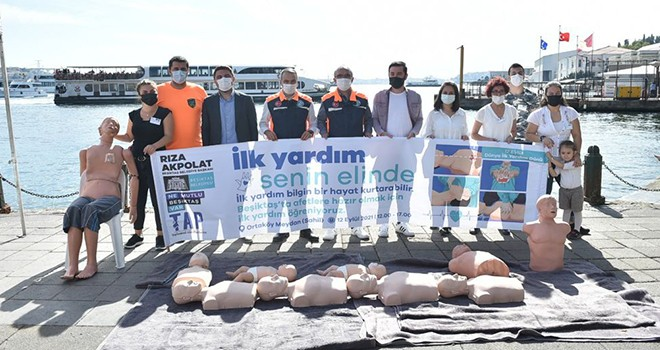 Beşiktaş'ta Dünya İlk Yardım Günü için farkındalık çalışması