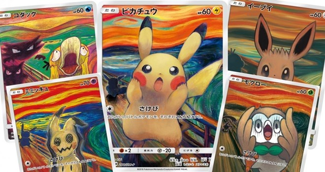Pokémon, Edvard Munch'un tablosunda