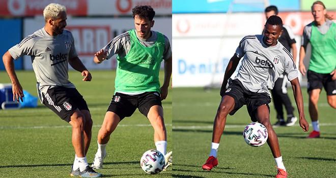 Beşiktaş'ta hazırlıklar sürüyor! Mensah siyah-beyazlı forma ile ilk antrenmanında