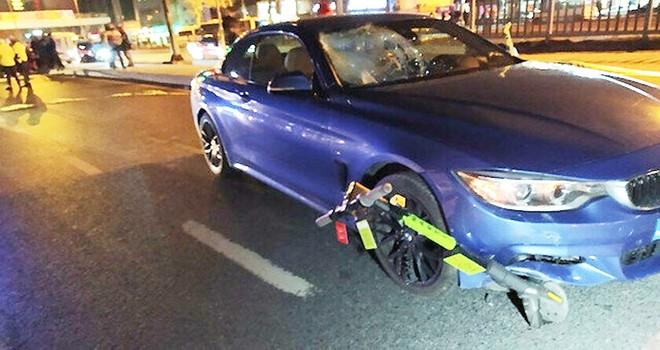 Elektrikli Scooterla yolun karşısına geçmeye çalıştı feci şekilde can verdi