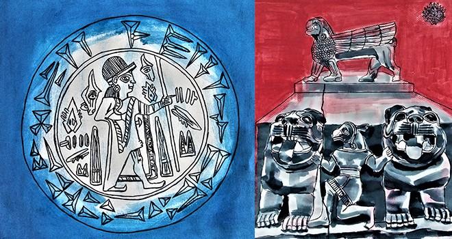 Ahmet Uzuner online resim sergisi Bahariye Sanat Galerisi'nde