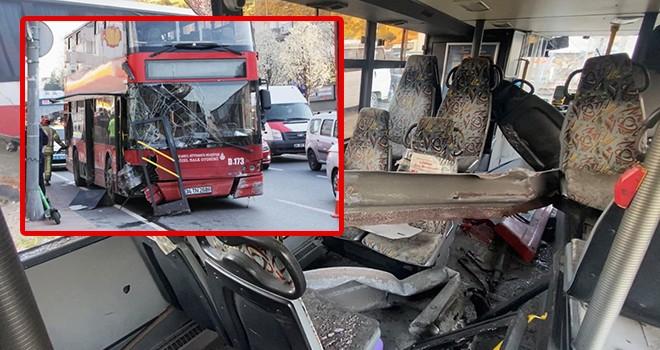 Korkunç kazanın yaşandığı otobüs akıbetini bekliyor