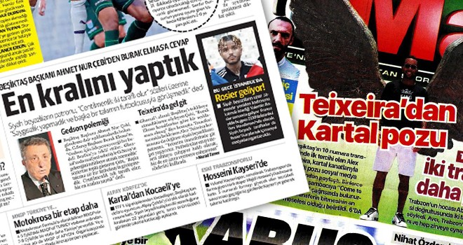 Günün Beşiktaş manşetleri (29 Temmuz)