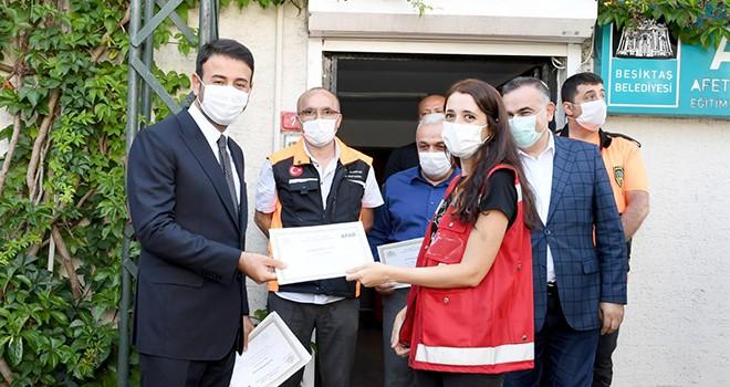 Beşiktaş'ta personele afet eğitimi