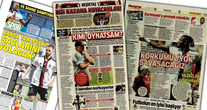 Beşiktaş manşetleri (14 Eylül)